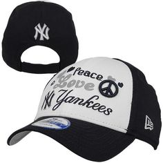 New Era New York Yankees Toddler Peace-Love-Team Adjustable Hat - Navy Blue