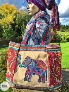 DREAMY NEW LARGE ELEPHANT NAMASTE SHOULDER BAG BOHO HANDBAG HIPPY GYPSY TOTE #Unbranded #ShoulderBags