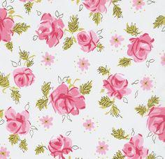 Angel Garden fabric, rose pink fabric, lecien japanese import fabric 2 yards. $18.50, via Etsy.