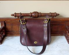 eecca9ab5d Coach Stewardess Bag In Brown Leather Style No 9525 Made In New York City -  VGC