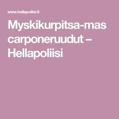 Myskikurpitsa-mascarponeruudut – Hellapoliisi
