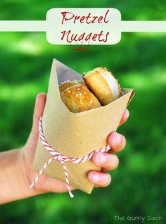 {Auntie Anne's Inspired} Soft Pretzel Nuggets