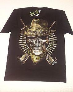 T-shirt Nera Glow in the Dark  Skull Military Guns Black | Abbigliamento e accessori, Uomo: abbigliamento, T-shirt | eBay!