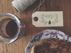 Maple Syrup Labels - Homemade - Fall Treats - Bottle Label - by Substation Paperie