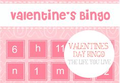 Valentine's Bingo ~ Free Printable #kids #activities