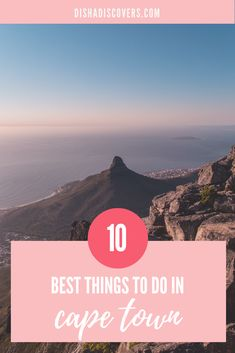 Theres no doubt that Cape Town South Africa is an amazing city with tons of things to see eat and explore. Here are ten things that you must do when you visit Cape Town from hiking Table Mountain to visiting penguins. Africa Destinations, Travel Destinations, Holiday Destinations, V&a Waterfront, Cape Town South Africa, Whale Watching, Table Mountain, Africa Travel, Vacation Spots