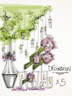 5Ssens works closely with you to design the wedding of your dreams 5Ssens travaille de manière très personelle avec vous pour créer votre mariage de rêve. www.5ssens.com