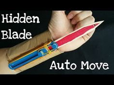 How to make the Full Automatic Hidden Blade | Assassin's Creed | Cardboard & wooden sticks - YouTube