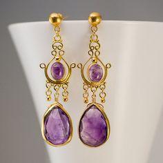 Amethyst Earrings  - Outfit 118