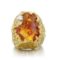 Andrew Grima, c. Citrin and diamond ring. Eye Jewelry, Sea Glass Jewelry, Fashion Jewelry, Disney Engagement Rings, Yellow Jewelry, Design Department, Family Jewels, Disney Jewelry, Pomellato