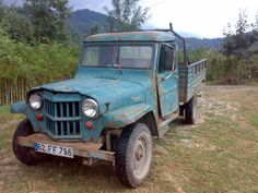 1953 Willys Truck - Photo submitted by Anil Ozyurt. Vintage Pickup Trucks, Antique Trucks, Old Trucks, Vintage Cars, Jeepster Commando, Willys Wagon, Military Jeep, Old Jeep, Jeep Commander