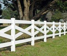Cross cross white rail fence