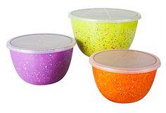 Confetti 3-Piece Pub Bowls w/ Lids on OneKingsLane.com