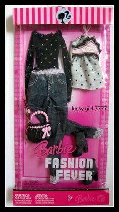 2007 Barbie Doll Outfit Clothing Fashion Fever L3383 0789 Jean Jacket Boots | eBay