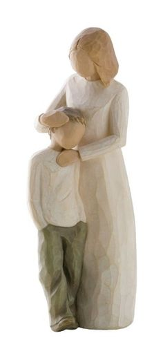 Who can describe the unique love of mother and son. shown here in Susan Lordi's Willow Tree ® keepsake figurine Mother and Son; Celebrating the bond of love between mothers and sons. Willow Tree ® Mother and Son by Susan Lordi Willow Tree Familie, Willow Tree Engel, Willow Tree Figuren, Willow Figurines, Love Statue, I Love My Son, Tree Illustration, Illustrations, Collectible Figurines