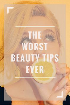 Beware of everything that you read in magazines or the internet. A lot of the beauty advice out there is totally wrong and can harm your skin real bad (or just make you look awful!). From matching your foundation to the wrong part of your body to using drying toothpaste on pimples here are the worst beauty tips ever