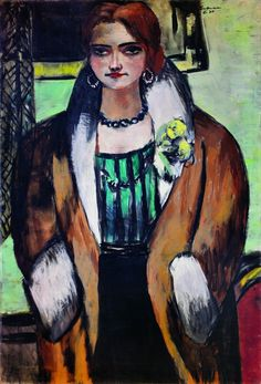 Max Beckmann (1884-1950), Portrait of Naila, (1934), oil on canvas 136 x 92 cm