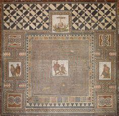 Theseus Mosaic, 300-400 AD