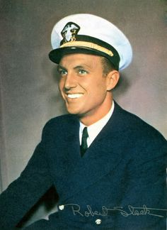 Robert Stack (actor in the movie Airplane!) - During World War II, Stack served as gunnery instructor in the United States Navy.