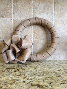 Easy burlap wreath.