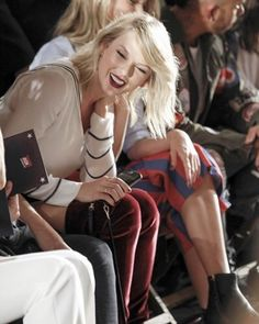 Taylor at the #tommyxgigi fashion show in NYC!