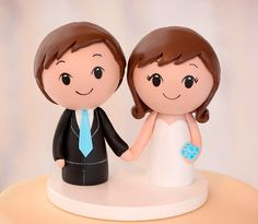 Kokeshi Cake Topper  Wooden Wedding Cake por CakeToppersStudio, $79.00