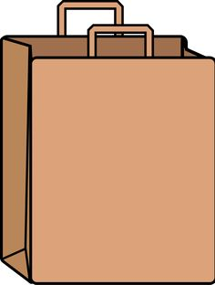 you can use this brown shopping bag clip art on your personal or rh pinterest com white paper bag clipart paper bag puppet clipart