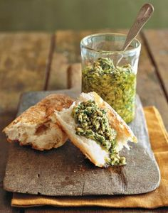 Easy-to-find parsley, lemon, walnuts, and olive oil make up our pesto. Try it spread on crusty bread — the bright lemon flavor and fresh herbs provide relish. A Thanksgiving must-have for the dinner t...