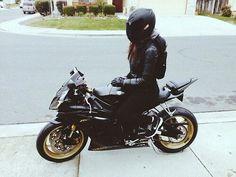 girl, black, and moto Bild