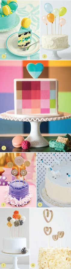 Fun and Modern Cake Toppers | Julep
