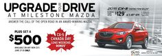 Upgrade your Drive at Milestone Mazda! Today's your last day to get $500 towards a brand-new CX-5!  http://www.milestonemazda.com/