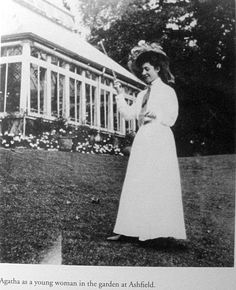 A young Christie on the grounds of her family home, Ashfield, in Torquay. The home featured a couple of acres of gardens that allowed her to roam the grounds as a child and make up stories in her head. The house was torn down in the 1960s, despite her efforts to save it.