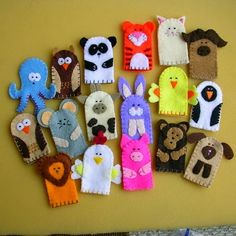 Looking Cute Toys Start With Soft Plush Animal Finger PuppetsYou can find Felt finger puppets and more on our website.Looking Cute Toys Start With Soft Plush Animal Finge. Plush Animals, Felt Animals, Stuffed Animals, Felt Puppets, Felt Finger Puppets, Felt Diy, Felt Crafts, Diy For Kids, Crafts For Kids