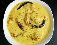 Punjabi Kadhi Pakora Recipe Step By Step Instructions Fried Fish Recipes, Veg Recipes, Curry Recipes, Indian Food Recipes, Recipies, Indian Foods, Kadhi Recipe Punjabi, Dahi Kadhi Recipe, Vegetarian Gravy