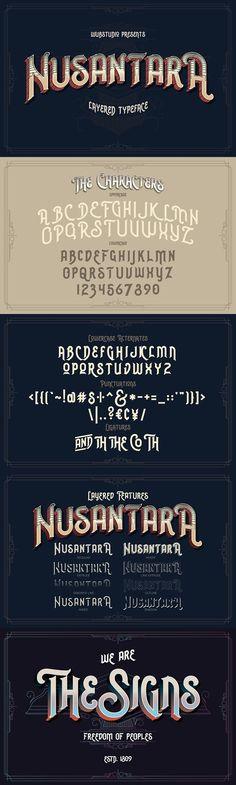 Nusantara Layered Typeface. Display Fonts