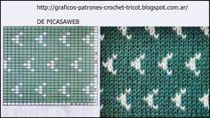 punto variado, grafic tricotat