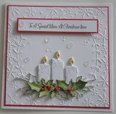 Want to know more about Handmade Christmas Card Ideas Die Cut Christmas Cards, Stamped Christmas Cards, Christmas Paper Crafts, Homemade Christmas Cards, Christmas Greeting Cards, Christmas Greetings, Handmade Christmas, Homemade Cards, Holiday Cards