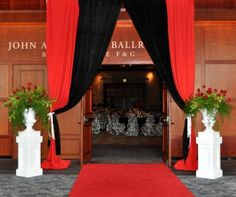 Front doors - Red Carpet Centerpieces | Red Carpet - used as inspiration