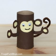 Paper Towel Roll Craft Paper Roll Animals Frugal Fun For Boys And Girls Monkey Crafts, Fox Crafts, Kids Crafts, Animal Crafts For Kids, Diy Arts And Crafts, Toddler Crafts, Preschool Crafts, Projects For Kids, Diy For Kids