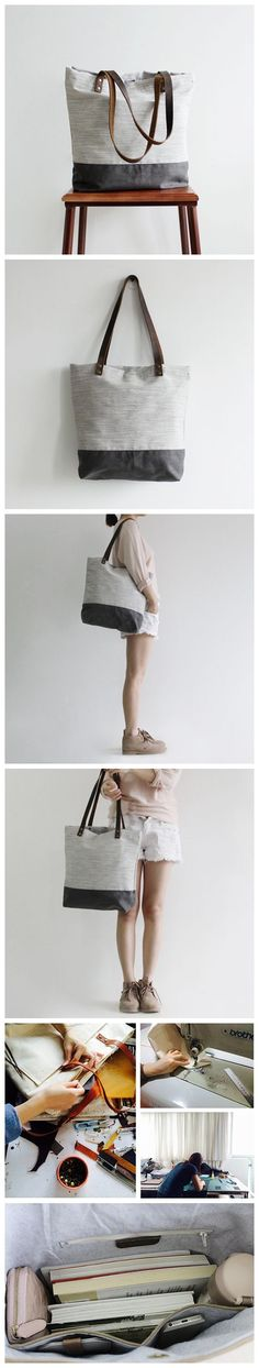 Handcrafted Canvas Tote Bag Shopper Bag Women's Fashion Handbag Gym Bag 14040 Handcrafted Canvas and Leather Casual Tote Bag Shopping Bag Handbag 14040 ——————————— – waxed canvas – Cotton lining – Inside one zipper pocket, one phone pocket, one wallet Fashion Handbags, Fashion Bags, Women's Fashion, Leather Bags Handmade, Handmade Bags, College Handbags, Canvas Leather, Waxed Canvas, Photography Bags