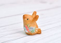Miniature Baby Bunny Rabbit Figurine Animal by PiccoloCirco