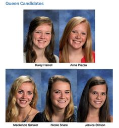 Plymouth High School 2015 Winter Homing Coming Queen Candidates are as follows: Haley Harrell, Anna Piazza, Mackenzie Schuler, Nicole Snare  and Jessica Stillson! Good Luck Ladies! Find out who will be crowned the PHS'15 Winter Homecoming Queen at Friday's Homecoming game! #PlymouthHSpcsc #PCSCweCARE