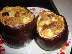 Bucataria cu noroc - Vinete umplute Noroc, Eggplant, Muffin, Food And Drink, Mary, Breakfast, Recipes, Kitchens, Morning Coffee