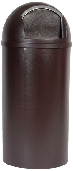 Rubbermaid Commercial Marshal Domed Trash Can, 25 Gallon, Brown, FG817088BRN