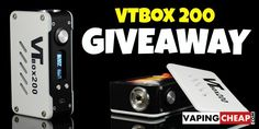 Enter to Win the DNA200 powered VTbox 200 box mod at http://vapingcheap.com