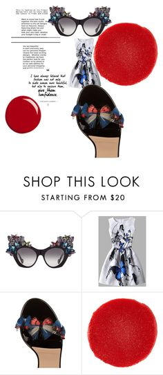 """""""bold butterflies"""" by alisafranklin on Polyvore featuring Anna-Karin Karlsson, Valentino, Christian Louboutin and Gucci"""