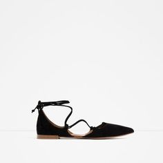 ZARA - WOMAN - FLAT LACE-UP D'ORSAY SHOES
