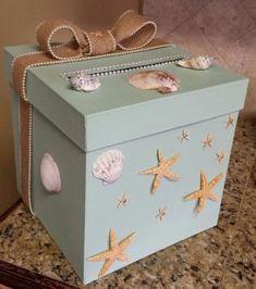 cajas decoradas par baby shower niño con estrellas