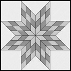 Guide to making different sized Lone Star blocks (small to king size quilt!)