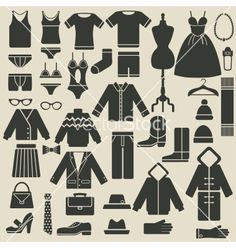 Clothing icons vector - by natbasil on VectorStock®